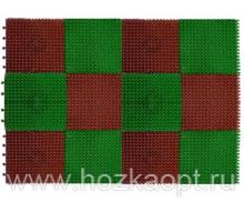 Коврик Травка модульный 42*56см зелено-коричн.