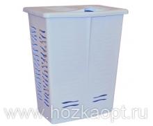 1707 Корзина для белья Aqua 42л (голубой пастельный) 1/8 BranQ