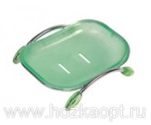 272 Мыльница настольная пластм. (зелен) Accoona