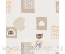 715 Клеенка Photoprint 1,4*20м Кошкин дом (Италия) ПВХ на нетк.осн.