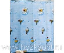 Штора Miranda LUCKY DAISY (Ромашки) голубой 180*200см