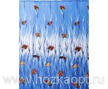 Штора Miranda TROPICAL FISH (Рыбки тропич.) голубой 180*200см