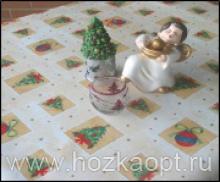 584/1 Клеенка Sale&Pepe 1,4*20м Елочки , игрушки (ПВХ на нетк.осн.)