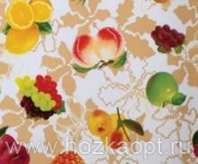 23000 Клеенка ВЕРОНА на нетканной осн.1,37*25м мод. SJ002B фрукты на беж.