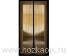 Сетка москитная на дверь на магнитах (210см*120см) коричнев.