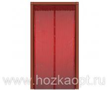 Сетка москитная на дверь на магнитах (210см*120см) красный