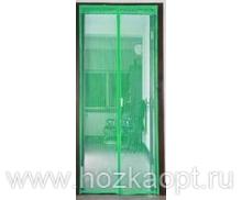 Сетка москитная на дверь на магнитах (210см*120см) зеленая