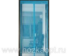 Сетка москитная на дверь на магнитах (210см*120см) синий
