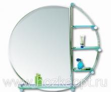 601 Зеркало Д800мм, 4 полочки Accoona