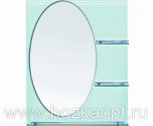 602 Зеркало 800*600мм, 3 полочки Accoona