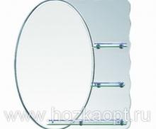 603 Зеркало 800*700мм, 3 полочки Accoona