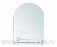 611 Зеркало 700*500мм, с полочкой Accoona