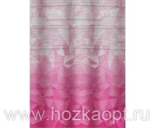 013D1 Шторы д/ванн ПВХ AQUA-PRIME 180*180см Розовая мозайка