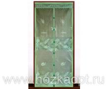 02TH Сетка а/москит. на дверь, магнит (210см*100см) зелен