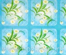 164/1 Клеенка на ткани 1,35*25м (цветы, гол. фон)