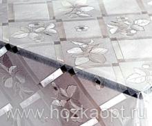 182-001ТС Клеенка DEKOLINE Crystal 1,37*20м прозрач.