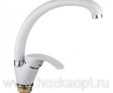 4053G Смеситель для кухни. Белый матовый, латунь, керамика. Accoona