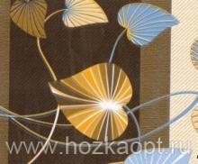 25-5 Клеенка ДЕКОМИР 1,35м*20м листва серо-синий.