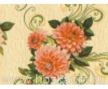 28-3 Клеенка ДЕКОМИР 1,35м*20м хризантема персиков.