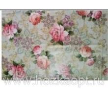 234 Клеенка Paloma 1,4*20м (розы на бежевом)