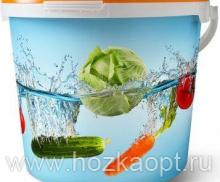 Ведро герметичное пищевое  5л. Овощи, JET 56/DET 225