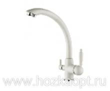 5179G-7 Смеситель для кухни с выходом для питьевой воды. Белый Accoona