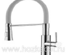 4890T-1 Смеситель для кухни с силиконовым изливом. Латунь. Серый+Хром. Accoona