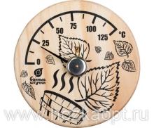 """18041 Термометр """"Листья"""" 14*14см"""