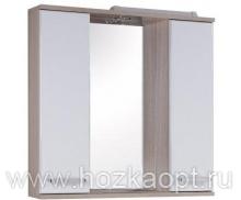 Сеул Зеркало + подсветка лев. / прав., 75см (750*166*716мм)
