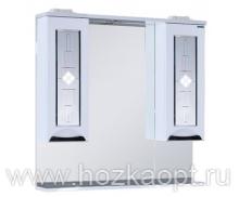 Астана Зеркало + подсветка два шкафчика и полка ,78см (780*170*850)