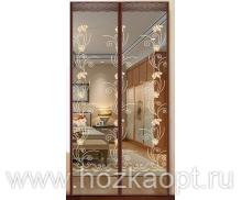 03XH Сетка а/москит. на дверь, магнит (210см*100см) корич.