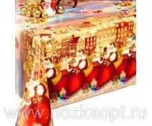 025B Клеенка Dekorama 1,4*20м (Новый год) золото с красным