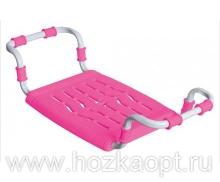Сиденье в ванну Раздвижное, пластик, розовый (СВ5)
