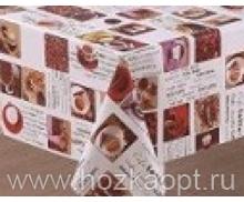 21457-KL Клеенка с принтом на ткан.основе 1,37*20м (PW94-R104-1) кофе