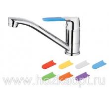 5219 Смеситель для кухни, силиконовые сменные ручки 7 шт. Латунь. Accoona