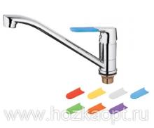 4119 Смеситель для кухни с гайкой , силиконовые сменные ручки 7 шт. Латунь. Accoona