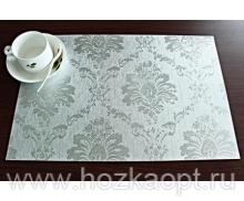 """5113 Покрытие д/стола """"Table Mat"""" Metallic 0,80*20м. серебро ,TD144-А001"""