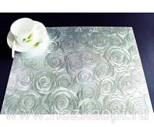 """4990 Покрытие д/стола """"Table Mat"""" Metallic 0,80*20м. серебро ,TD192-А001"""