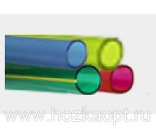 Шланг ПВХ прозрачный цветной ø18 мм, 2 атм. (толщина стенки 1,6мм, длина 25м, вес 2,4)