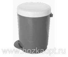 1306 Контейнер для мусора с педалью  6л (серый) 1/4 Plastic Centre