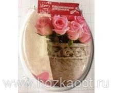 10-23 Крышка д/унитаза Libero Розы