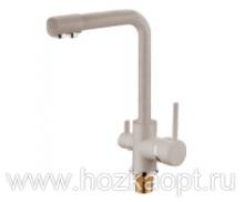 5179-4F Смеситель для кухни с выходом для питьевой воды. Бежевый матовый. Accoona