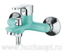6367M Cмеситель для ванны, с  боковым шаровым переключателем в корпусе. Синий. Accoona