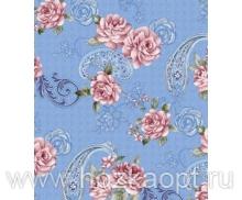 345-1 Клеенка Paloma 1,4*20м ( розы на голубом)