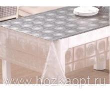 22006 Клеенка прозрачная с напылением серебро ПВХ 1,37*20м TC212-003