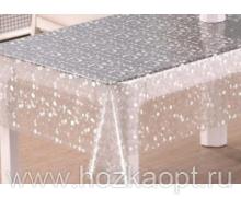 22001 Клеенка прозрачная с напылением серебро ПВХ 1,37*20м TC142-003