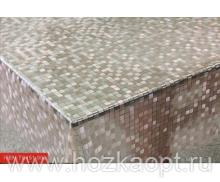 22002 Клеенка прозрачная с напылением серебро ПВХ 1,37*20м TC151-003