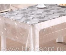 22010 Клеенка прозрачная с напылением серебро ПВХ 1,37*20м TC255-003