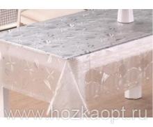 22012 Клеенка прозрачная с напылением серебро ПВХ 1,37*20м TC256-003