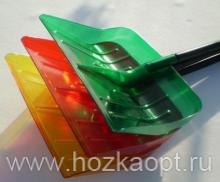 Лопата снеговая КРИСТАЛЛ 550*440 с алюм.черен. с V-ручкой